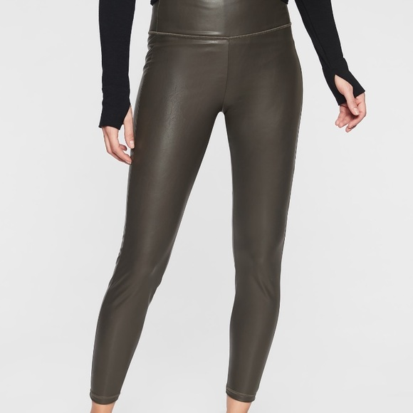 d05122e175 Athleta Pants | All Over Gleam Tight Faux Leather Legging | Poshmark